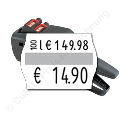 Etiketten Contact by Grundpreisauszeichner F 252 R 22x16mm Etiketten Contact 14 22 Gp