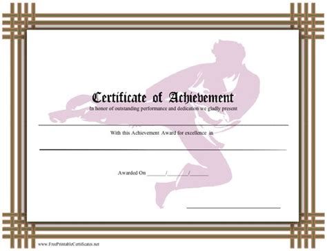 martial certificate templates free this brown bordered certificate recognizes skill in karate