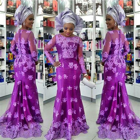 styles of purple cordlace beautiful aso ebi style cord lace 2016