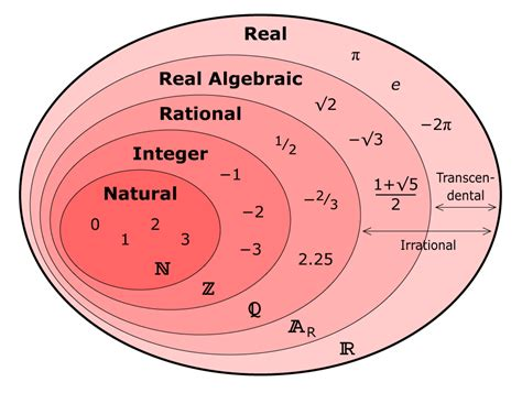 diagram of a real number system real number set diagram matematicas real