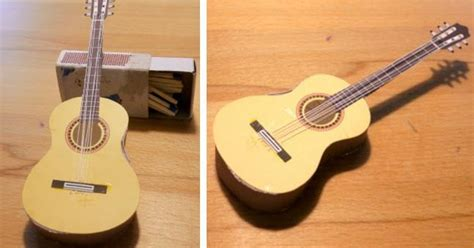 Guitar Papercraft - papermau easy to build miniature guitar paper model by