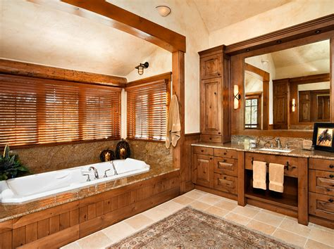 Log Cabin Bathroom Ideas Master Bath Creekside Ranch