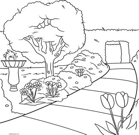 Con Outline by Dibujos De Paisajes Para Colorear