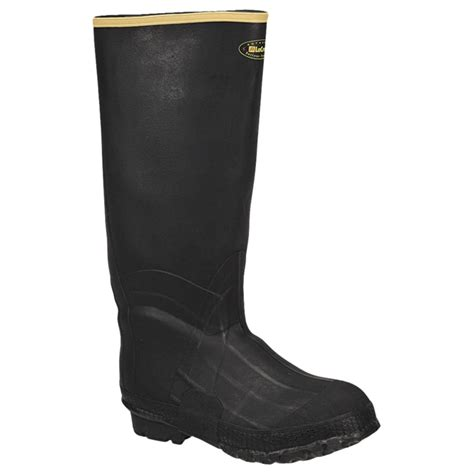 mens rubber boots s lacrosse 174 zxt knee boots black 147039 rubber