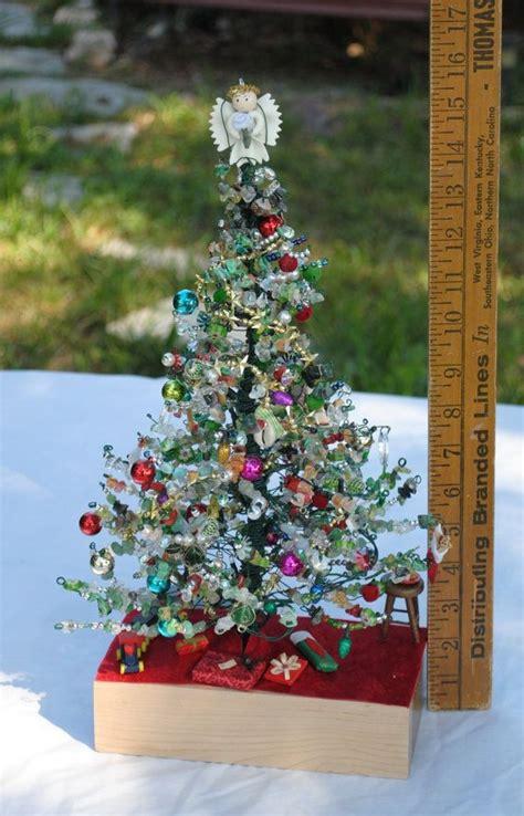 handmade wire christmas tree scene lighted christmas tree