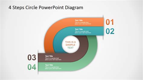4 step segmented circular diagrams for powerpoint slidemodel 4 steps circle powerpoint diagram slidemodel