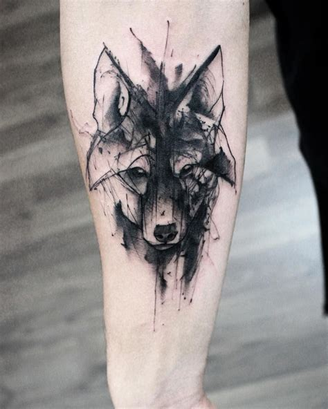 watercolor wolf tattoo sketch watercolor wolf animal designs
