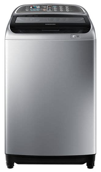 samsung 10 kg top load washing machine with active dual wash and digital inverter motor silver