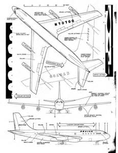 model airplane news boeing 707 plans solid model