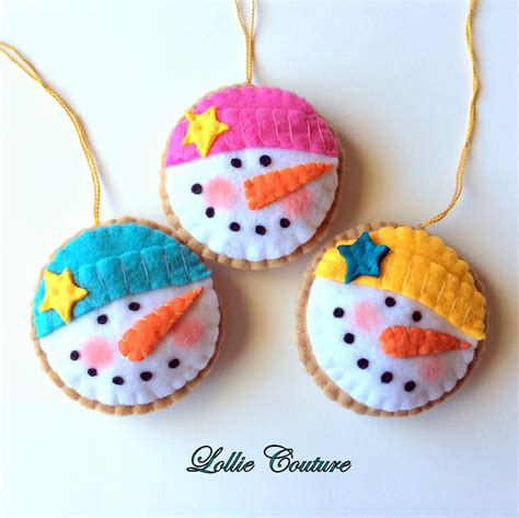 Handmade Ornaments - felt ornaments cookie felt by modernstyleholiday