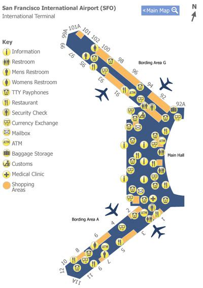 san francisco airport map jetblue map of san francisco airport my