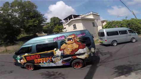 St Mini a minibus on my trip into kingstown capital