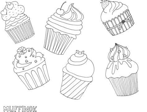 mini cupcake coloring page muffin rajz drawing muffin coloring page sz 237 nező