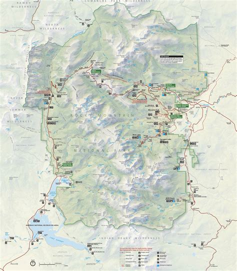 rocky mountain national park map brochures rocky mountain national park u s national park service