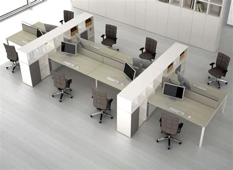 multi joint desk l multiple workstation individual with storage modular
