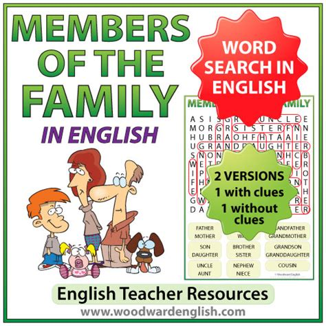 Search Family Members Family Members In Word Search