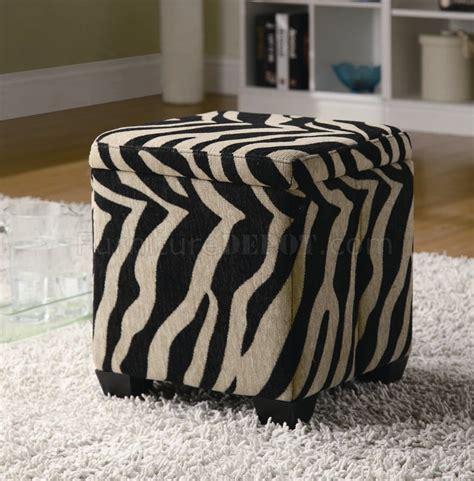 zebra storage ottoman khaki zebra fabric modern storage ottoman w wood legs