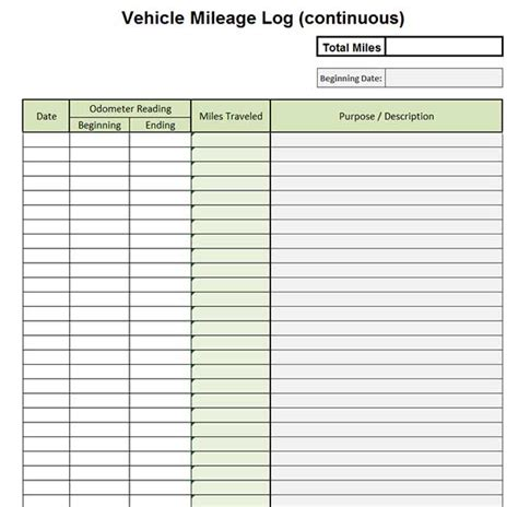 vehicle mileage log book template best photos of individual vehicle mileage record