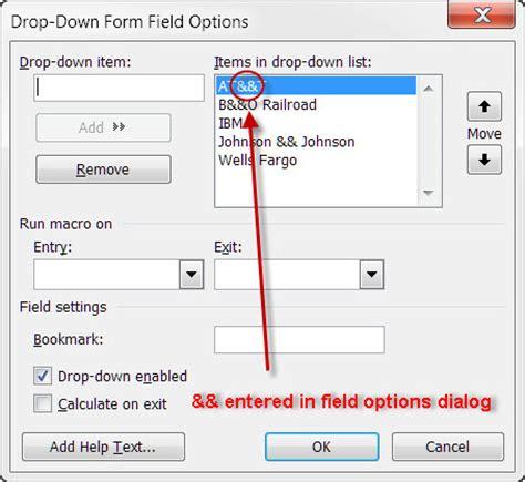 Word Vorlage Dropdown Feld Ersand In Dropdown Formfield Microsoft