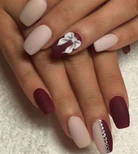 Nail Design by 12 Burgundy Nail Designs For 2017