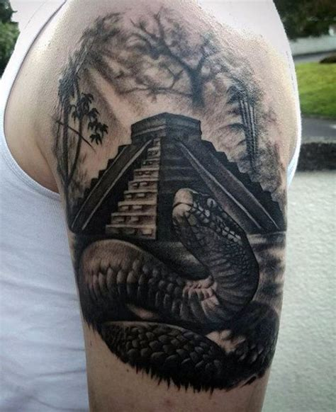quarter sleeve aztec tattoo 50 3d snake tattoo designs for men reptile ink ideas