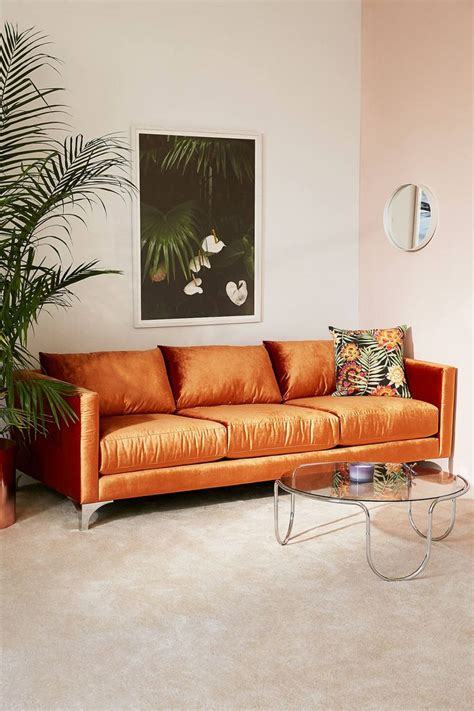 orange sofa living room best 25 orange sofa ideas on orange living