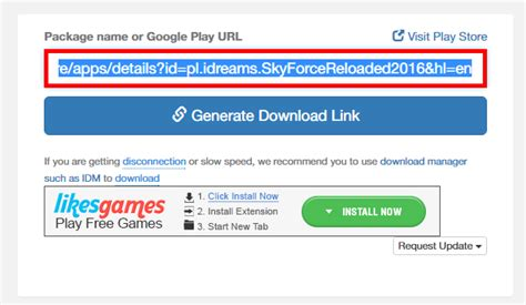 generate apk link how to directly apk from play android