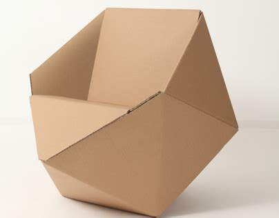 cardboard furniture templates cardboard chair on behance