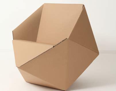 diamond cardboard chair on behance