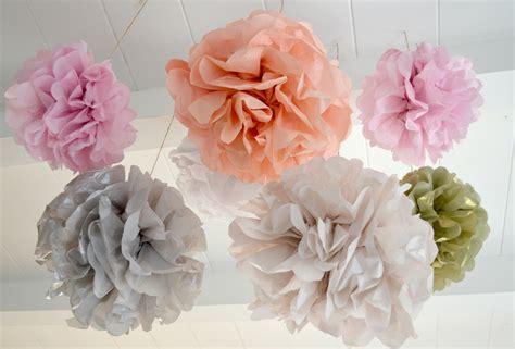 How To Make Ceiling Pom Poms by Ceiling Tissue Pom Poms Kidolo