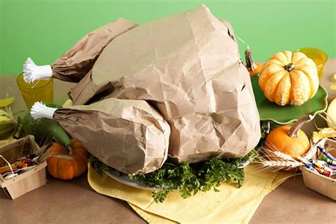 Paper Turkeys To Make - diy paper bag turkey