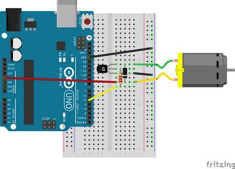 arduino tutorial dc motor problem running dc motor with johnny five