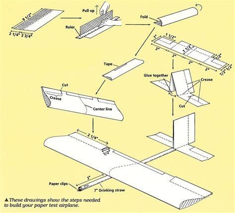 To Make A Paper Plane - how to make a model paper airplane step by step www