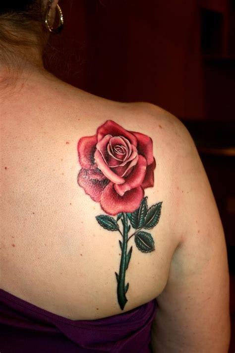 pink rose tattoo by cara hanson tattoosbycara com work