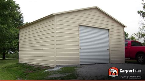 All Garage by Steel Garage 18 X 21 For One Car Shop Steel Buildings