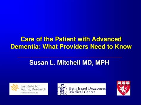dementia care what should housing providers offer susan mitchell care of the patient with advanced dementia