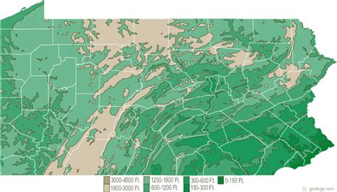 pennsylvania physical map pennsylvania physical map and pennsylvania topographic map