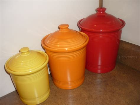 i my fiestaware canisters the bright