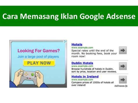tips trick memasang iklan selain google adsense cara memasang google adsense