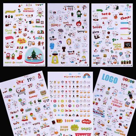 6 Pcs Cat Transparent Stickers Stiker Lucu Kucing buy grosir stiker diary lucu from china stiker diary lucu penjual aliexpress