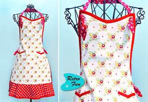 apron designs and kitchen apron styles retro fun vintage style apron sew4home