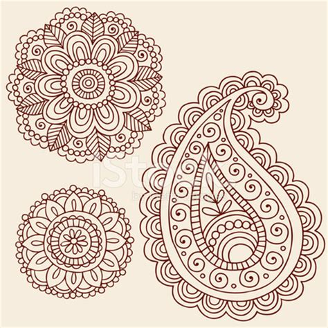 free doodle design elements henna mehndi doodle paisley design elements stock vector