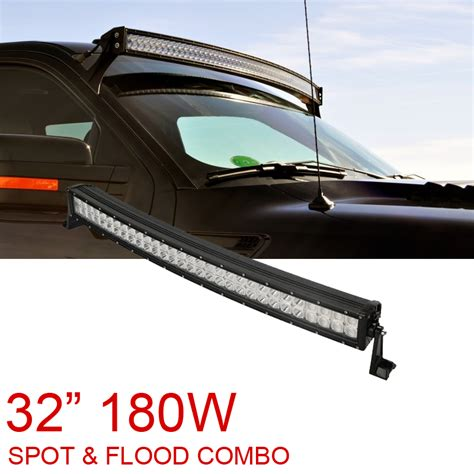 32 led light bar 32 quot 180w curved led work light bar flood spot combo for