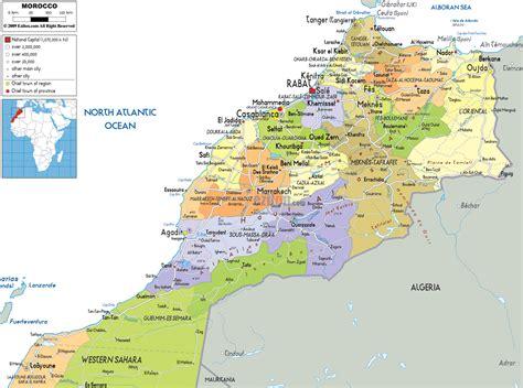 political map of nigeria ezilon maps map of morocco africa