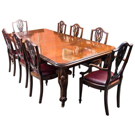 Mahogany Dining Table Sets Antique Mahogany Dining Table And Eight Chairs At 1stdibs