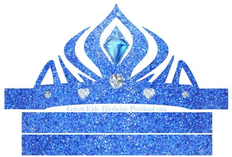 printable frozen crown template pic of elsa crown party invitations ideas