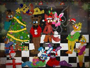 Fnaf xmas art contest winners announced by nadsdeidre on deviantart