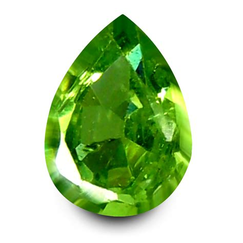 3 47 ct valuable pear 0 14 ct valuable pear cut 3 x 4 mm un heated demantoid
