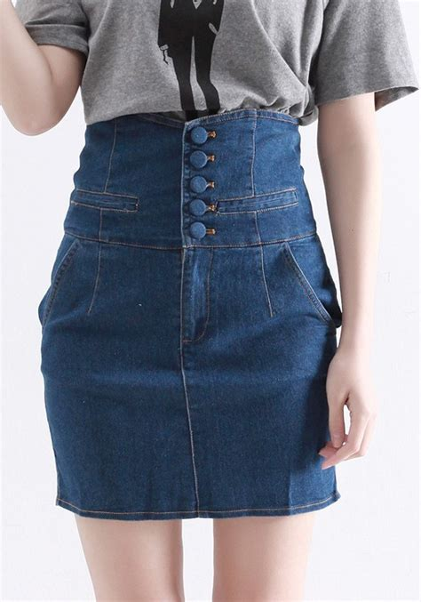 high waisted jean skirts memes