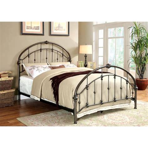 bronze metal bed furniture of america niva twin metal bed in brushed bronze